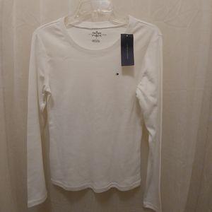 Tommy Hilfiger ladies white long sleeve shirt M